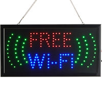 Choice 19 inch x 10 inch LED Rectangular Free Wi-Fi Sign with Two Display Modes