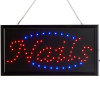 Choice 19 inch x 10 inch LED Rectangular Nails Sign with Two Display Modes