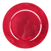 Tabletop Classics TR-6620 13 inch Red Metallic Round Polypropylene Charger Plate