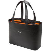 Kensington K62614WW Jacqueline LM650 15 5/8 inch Black Faux Leather Laptop / Tablet Tote