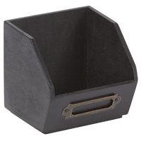 American Metalcraft PWBB3 3 7/8 inch X 3 5/8 inch Black Poplar Wood Sugar Caddy