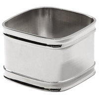 American Metalcraft NRS12 1 5/8 inch Square Stainless Steel Napkin Ring - 12/Set