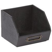 American Metalcraft PWBB45 5 inch x 4 3/4 inch Black Poplar Wood Sugar Caddy