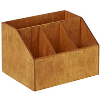 American Metalcraft PWC7 7 1/2 inch x 6 1/2 inch x 5 1/8 inch Natural Poplar Wood Coffee Caddy