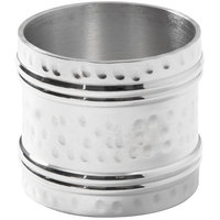 American Metalcraft NRA12 1 1/2 inch Hammered Aluminum Napkin Ring - 12/Set