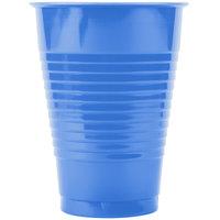 Creative Converting 28145071 12 oz. True Blue Plastic Cup   - 20/Pack