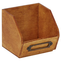 American Metalcraft PWB3 3 7/8 inch X 3 5/8 inch Natural Poplar Wood Sugar Caddy