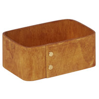 American Metalcraft PWS4 4 inch x 3 5/8 inch Natural Poplar Wood Sugar Caddy