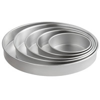 Round 2 inch Deep Aluminum Straight-Sided Cake Pan / Deep Dish Pizza Pan Set - 6 inch, 8 inch, 10 inch, 12 inch, and 14 inch