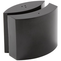 American Metalcraft SPDB11 4 oz. Black Stainless Steel Embracing Salt and Pepper Shaker Set