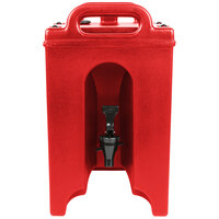 Cambro 100LCD158 Camtainer 1.5 Gallon Red Insulated Beverage Dispenser