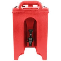 Cambro 100LCD158 Camtainers® 1.5 Gallon Hot Red Insulated Beverage Dispenser