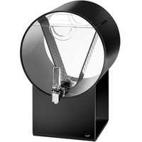 Rosseto LD181 Lucid 3 Gallon Black Acrylic Barrel Beverage Dispenser with Infusion Chamber