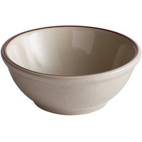 12.5 oz. Brown Speckle Narrow Rim China Nappie Dish / Bowl - 36/Case