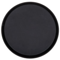 Cambro 1400TL110 Treadlite 14 inch Round Black Non-Skid Fiberglass Serving Tray - 12/Case