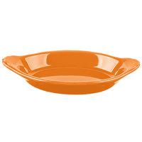 Hall China 30528325 Tangerine 12 oz. Colorations Oval Rarebit / Au Gratin Dish - 24/Case