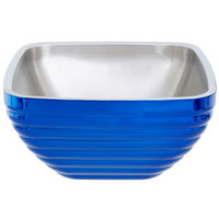 Vollrath 4763525 Double Wall Square Beehive 5.2 Qt. Serving Bowl - Cobalt Blue