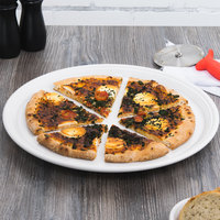 Homer Laughlin 505100 Fiesta White 15 inch China Pizza / Baking Tray - 4/Case