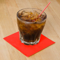 Hoffmaster 180308 Bittersweet Orange Beverage / Cocktail Napkin - 1000/Case