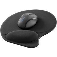Kensington L57822US Wrist Pillow Black Foam Mouse Pad with Wrist Rest