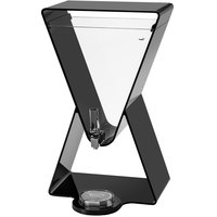 Rosseto LD185 Lucid 3 Gallon Black Acrylic Prism Beverage Dispenser with Drip Tray