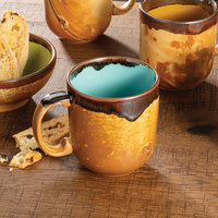 Homer Laughlin 224041841 Fresco Hues Robin's Egg Blue 14 oz. China Mug   - 12/Case
