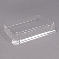 Genpak SQ91 11 1/2 inch x 8 3/4 inch Clear Rectangular Dome Lid - 200/Case