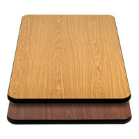 Lancaster Table & Seating 24 inch x 42 inch Laminated Rectangular Table Top Reversible Walnut / Oak