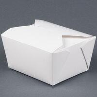 Microwavable Bio-Pak 01BPWHITEM White Paper #1 Take Out Carton 5 inch x 4 inch x 3 inch - 450 / Case