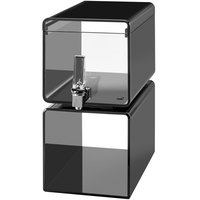 Rosseto LD188 Lucid 2 Gallon Black Acrylic Cube Beverage Dispenser
