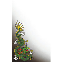 8 1/2 inch x 14 inch Menu Paper - Asian Themed Dragon Design Cover - 100/Pack