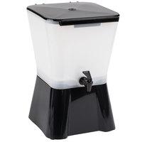 Carlisle 1082003 3 Gallon Black Square Beverage Dispenser