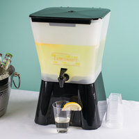 Carlisle 1082003 3 Gallon Black Square Beverage Dispenser