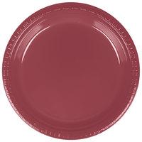 Creative Converting 28312221 9 inch Burgundy Plastic Plate - 240/Case
