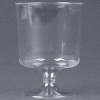WNA Comet CCW5240 Classicware 5 oz. 1-Piece Clear Plastic Pedestal Wine Cup   - 240/Case