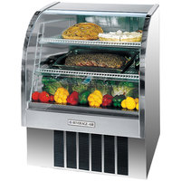 Beverage-Air CDR4/1-S-20 Stainless Steel Exterior Curved Glass Refrigerated Bakery Display Case 49 inch - 18.1 Cu. Ft.