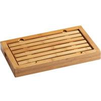 Cal-Mil 823 13 3/4 inch x 8 inch x 1 1/2 inch Bamboo Crumb Catcher Cutting Board