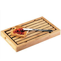 Cal-Mil 823 Bamboo Crumb Catcher Cutting Board - 13 3/4 inch x 8 inch x 1 1/2 inch
