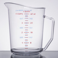 Cambro 100MCCW135 Camwear 1 Qt. Clear Measuring Cup