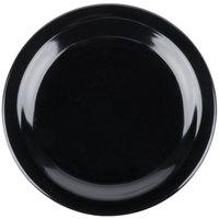 Carlisle 4350303 Dallas Ware 7 1/4 inch Black Melamine Plate - 48/Case