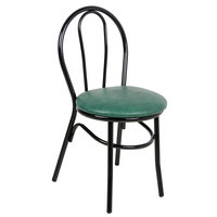 Lancaster Table & Seating Green Hairpin Cafe Chair with 1 1/4 inch Padded Seat