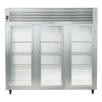Traulsen RHT332NUT-FHG Stainless Steel 69.5 Cu. Ft. Three Section Glass Door Narrow Reach In Refrigerator - Specification Line