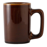 Tuxton BAM-1007 DuraTux 10 oz. Texan Caramel China Mug - 24/Case
