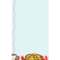 8 1/2 inch x 11 inch Menu Paper - Diner Theme Left Insert - 100/Pack