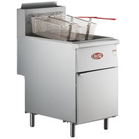 Avantco FF518 Liquid Propane 70-100 lb. Stainless Steel Tube Floor Fryer