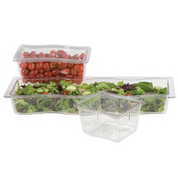 Carlisle 698407 Modular Displayware 1/2 Size Clear Wavy Edge Food Pan - 2 1/2 inch Deep - 6 / Case