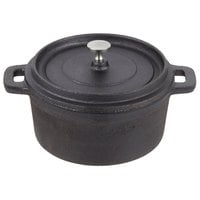 American Metalcraft CIPR5500 5 inch Round Cast Iron Mini Pot