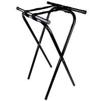 Tablecraft 24BK Black-Powder-Coated Metal Tray Stand - 31 inch