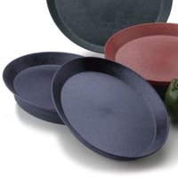 HS Inc. HS1057 11 inch Blueberry Polypropylene Oval Deli Server - 24/Case
