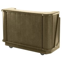 Cambro BAR650DX194 Granite Sand Cambar 67 inch Portable Bar with 7-Bottle Speed Rail, Cold Plate, and Pre-Mix System